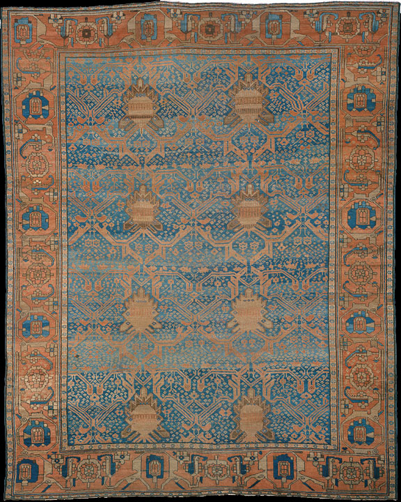Antique bakshaish Carpet - # 7628