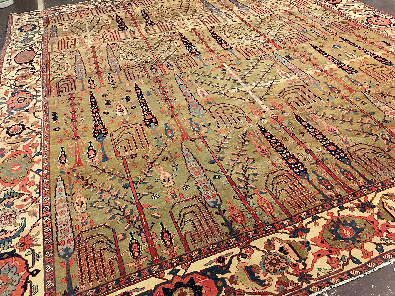 Antique bakshaish Carpet - # 80001