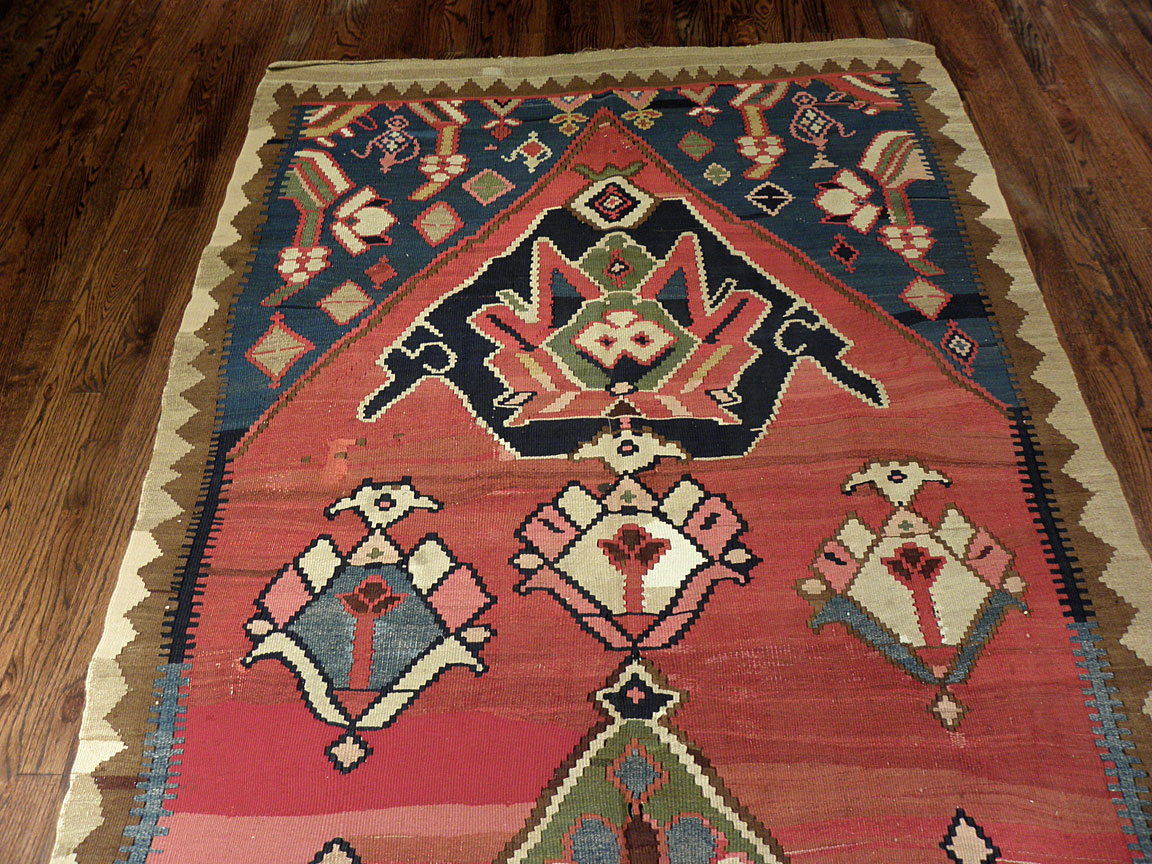 Antique bidjar, kilim Rug - # 7491