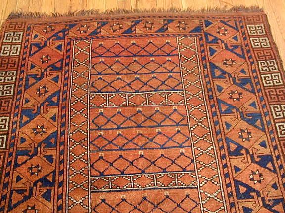 Antique ersari engsi Rug - # 2974