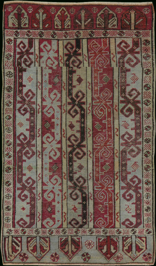 Antique ghiordes Rug - # 7793