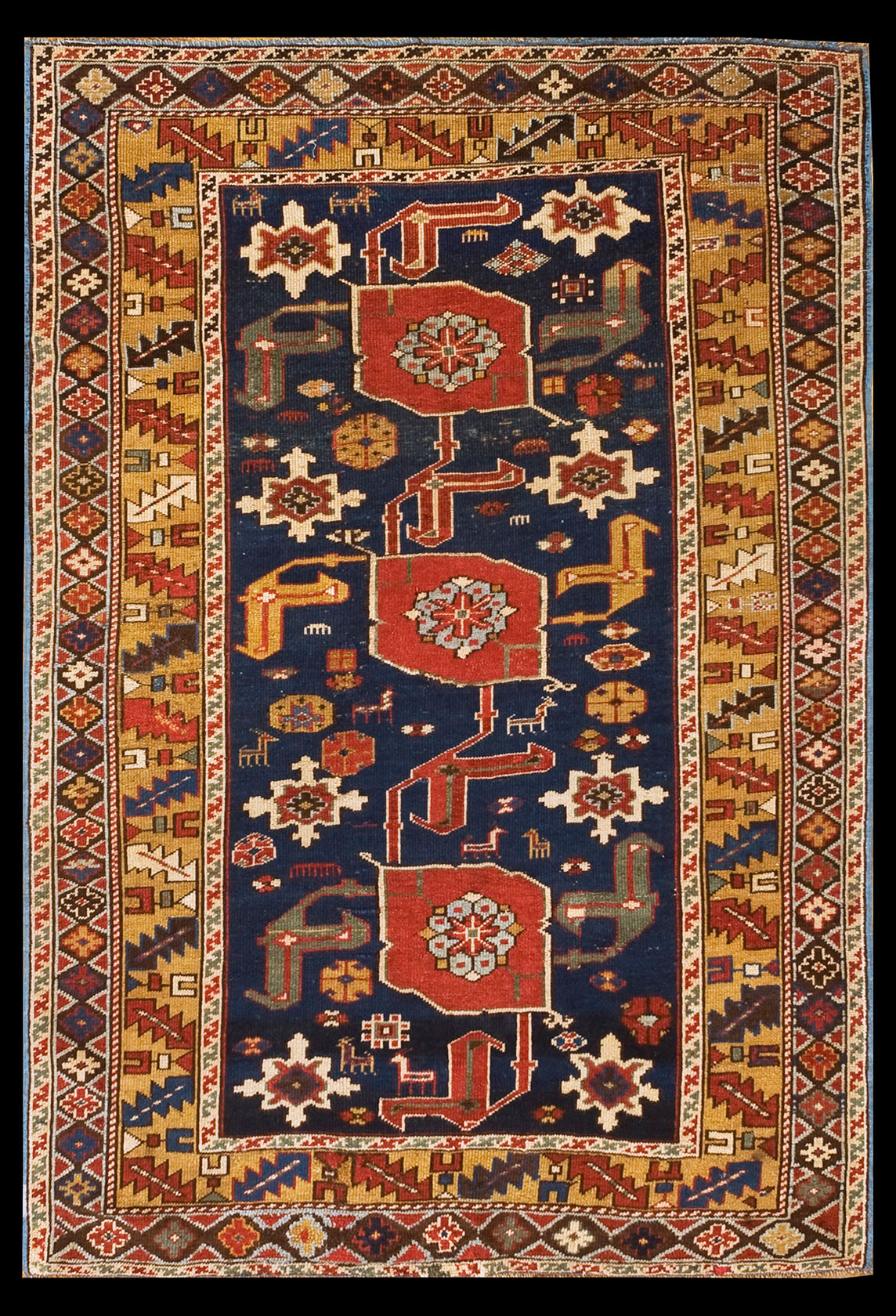 Antique karagashli Rug - # 8665