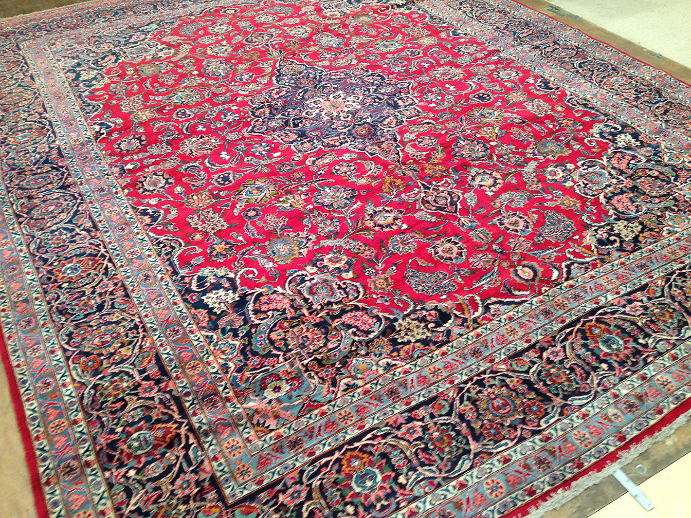 Antique kashan Carpet - # 50285