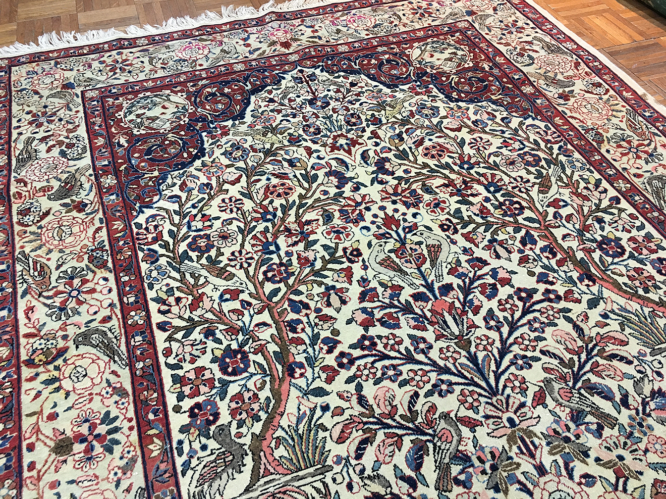 Antique kashan, dabir Rug - # 53671