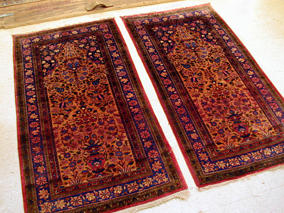 Antique kashan Rug - # 3987