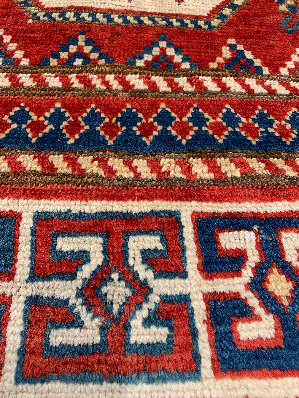 Antique kazak Rug - # 55232