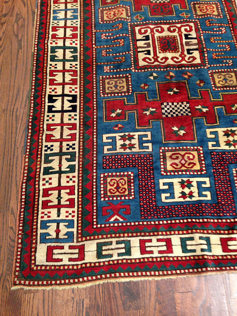 Antique kazak Rug - # 8701