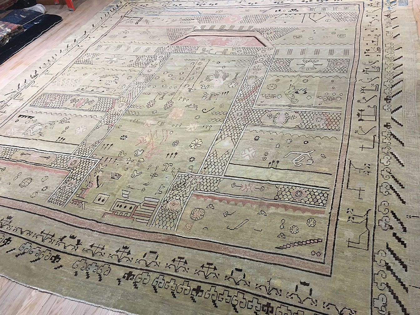 Antique khotan Carpet - # 52305