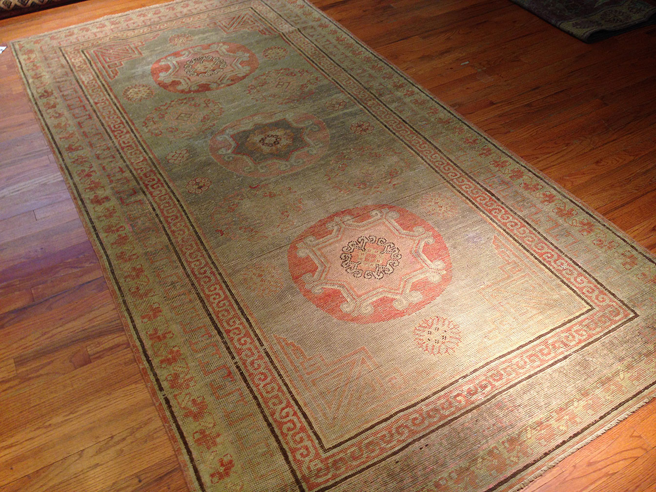 Antique khotan Rug - # 9858