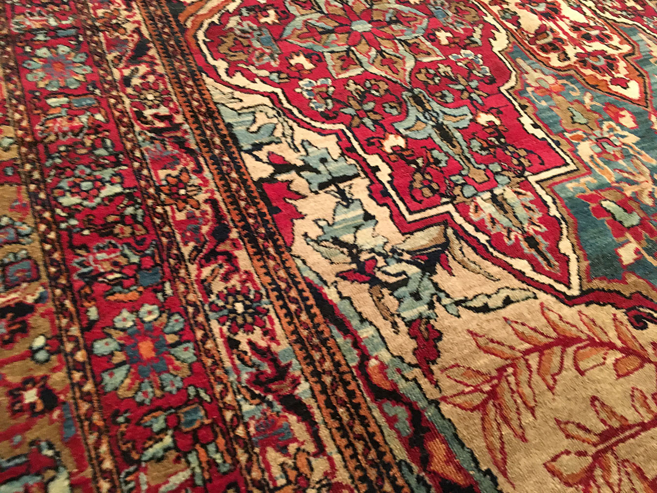 Antique kirman, lavar Carpet - # 52405