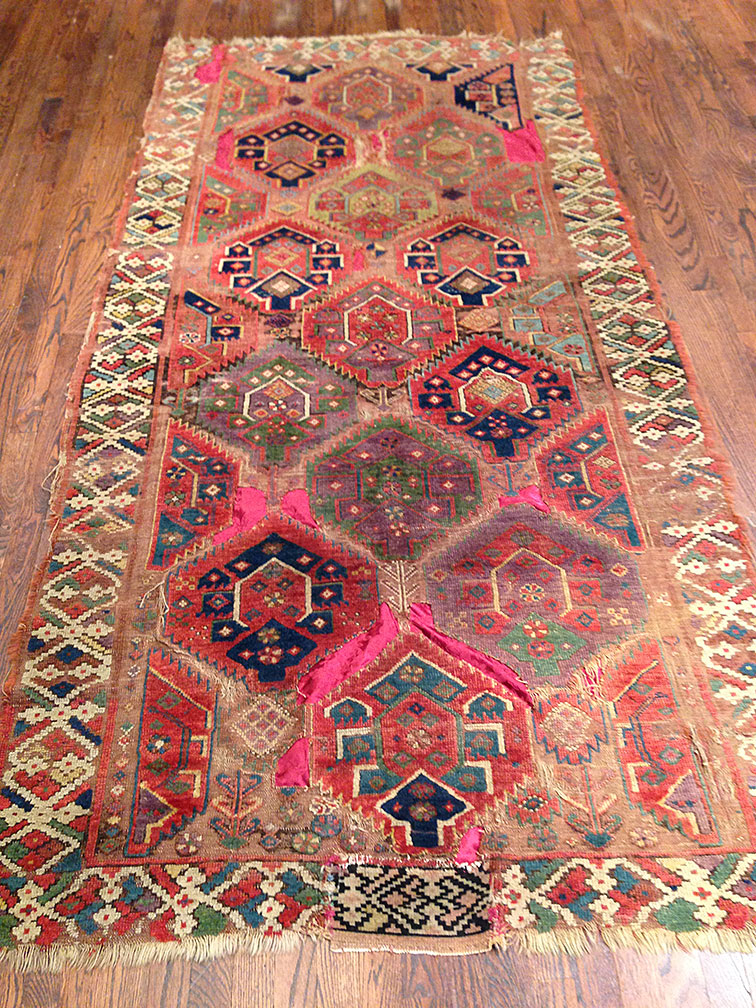 Antique kurdish Rug - # 9461