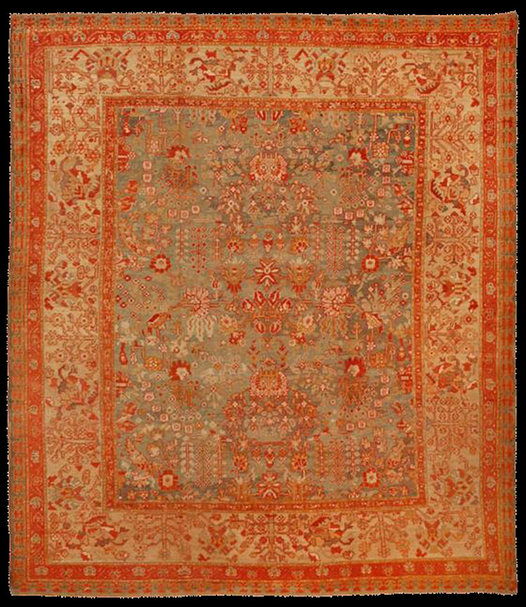 Antique oushak Carpet - # 52996