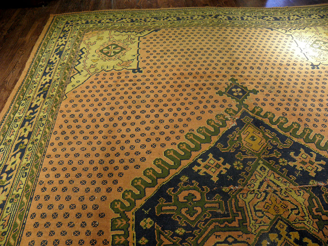 Antique oushak Carpet - # 6895