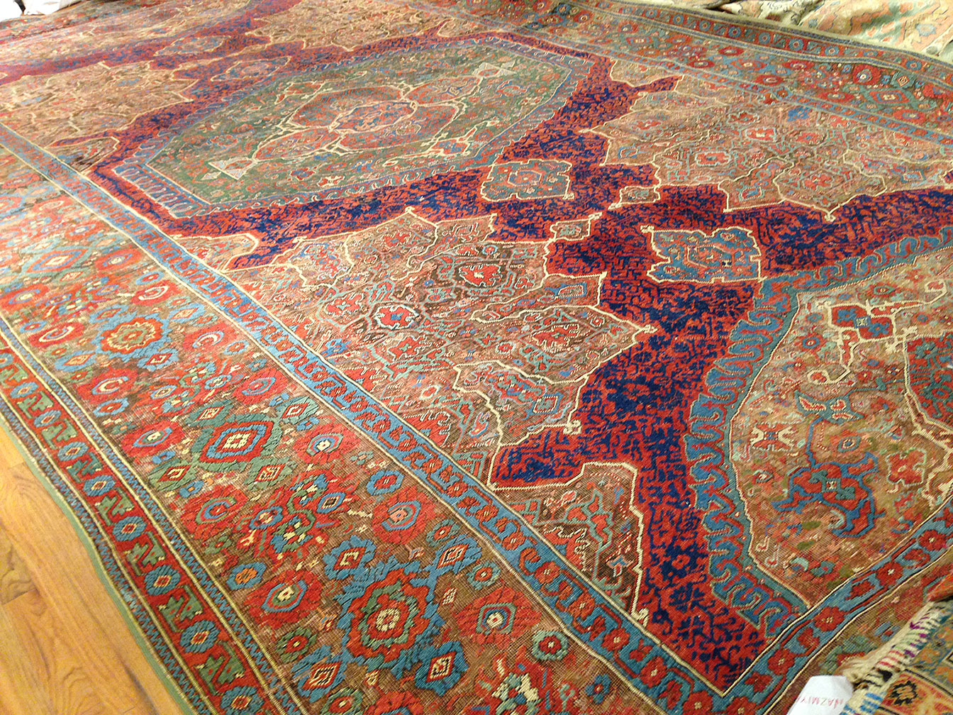 Antique oushak Carpet - # 9625