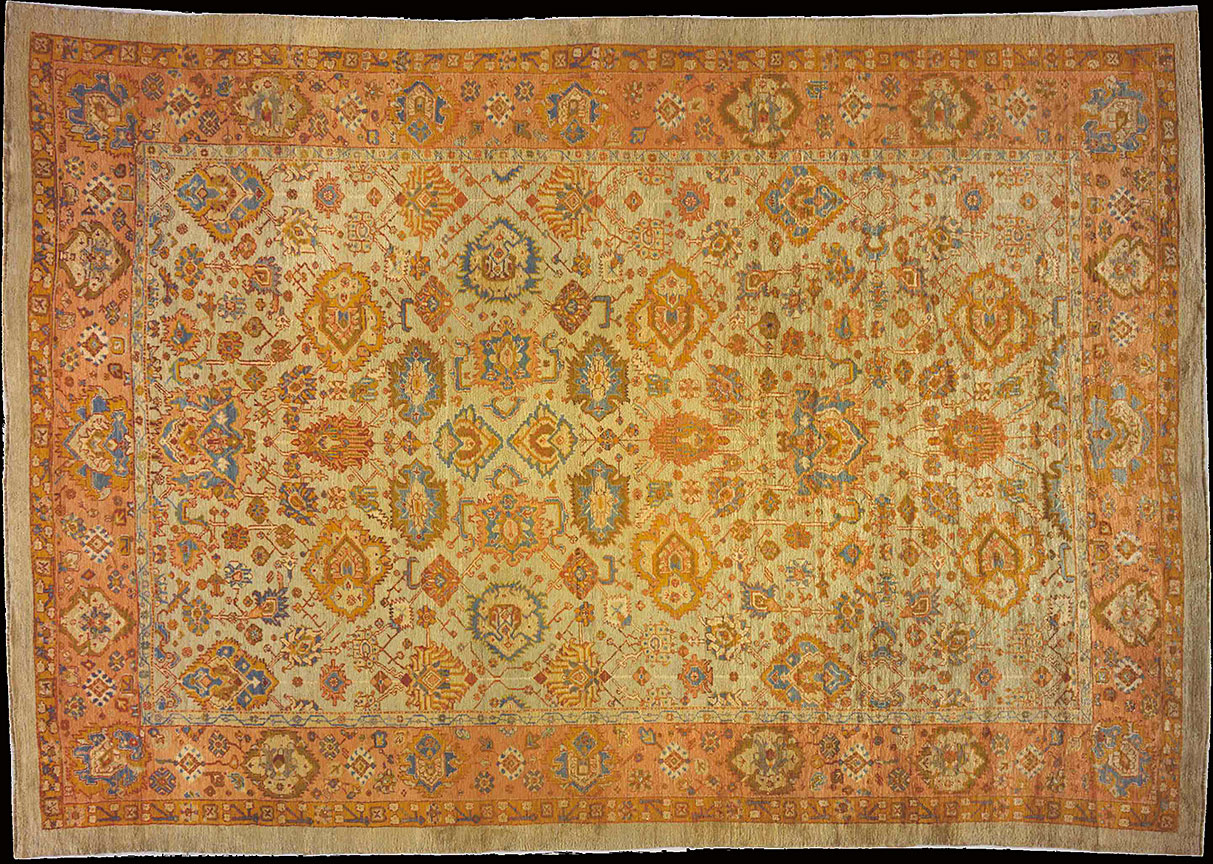 Antique oushak Carpet - # 9878