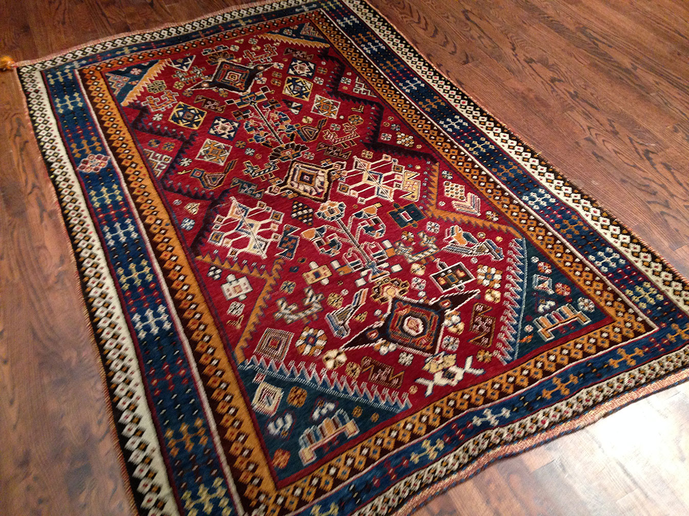 Antique qashkuli Rug - # 6102