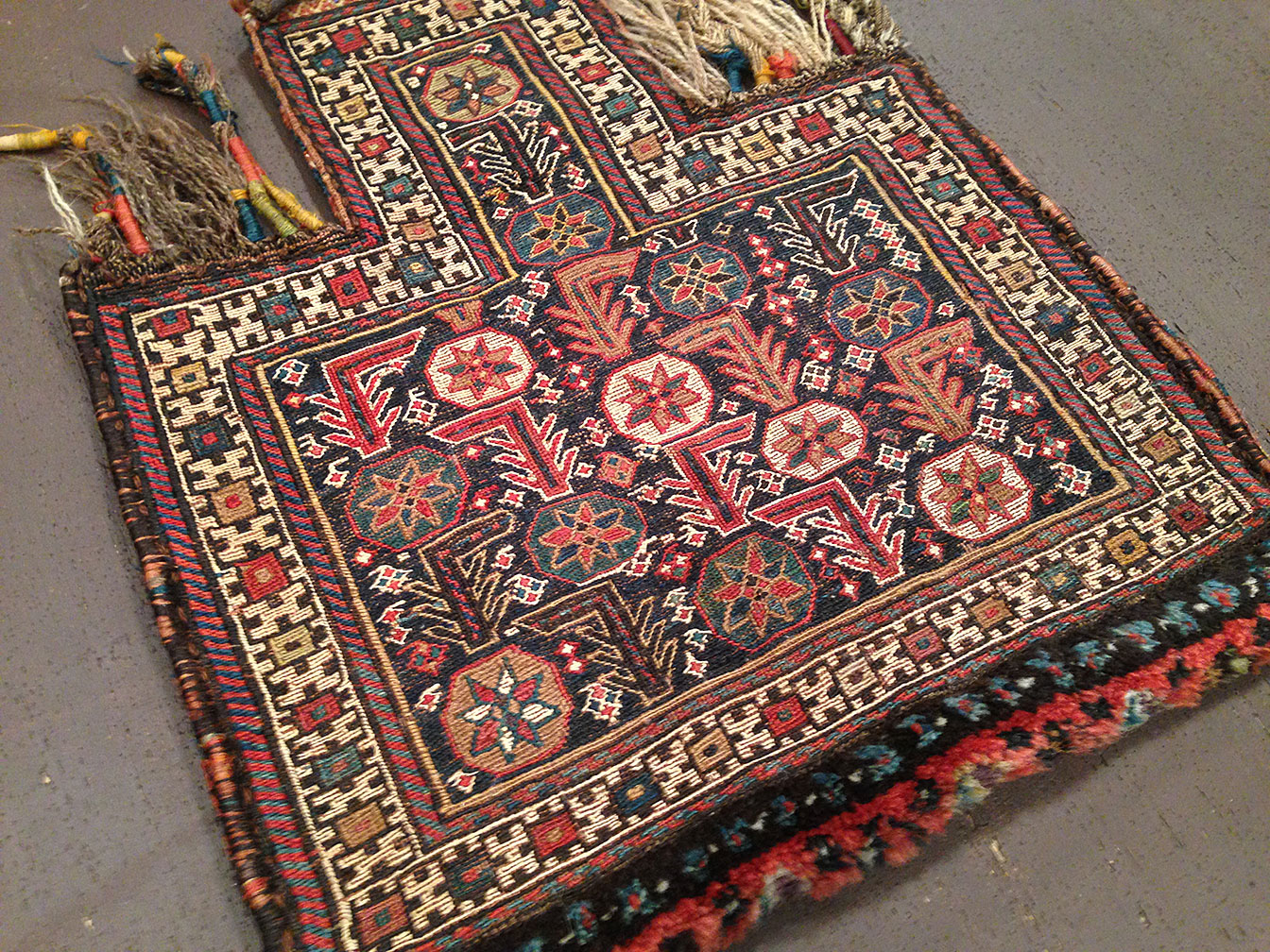 Antique salt bag Rug - # 50615