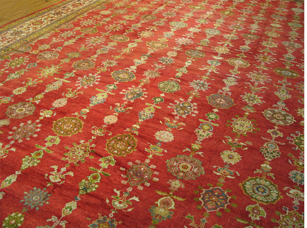 Antique sultan abad Carpet - # 4343