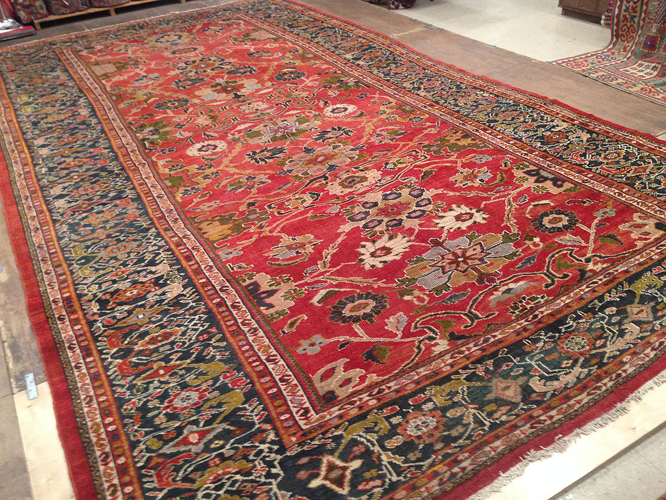 Antique sultan abad Carpet - # 50307