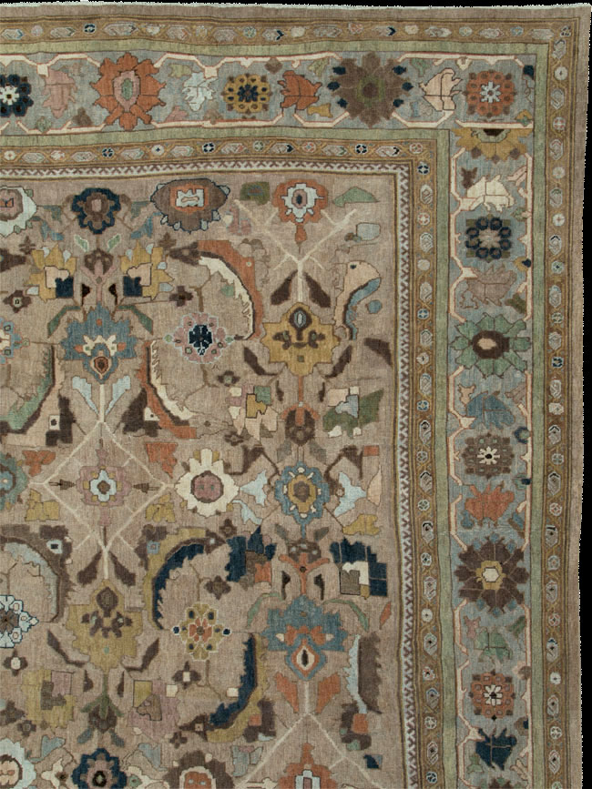 Antique sultan abad Carpet - # 52621