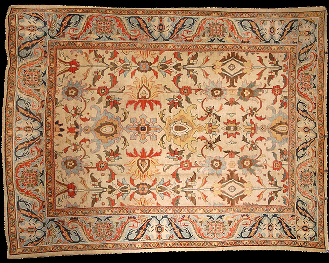 Antique sultan abad Carpet - # 53020