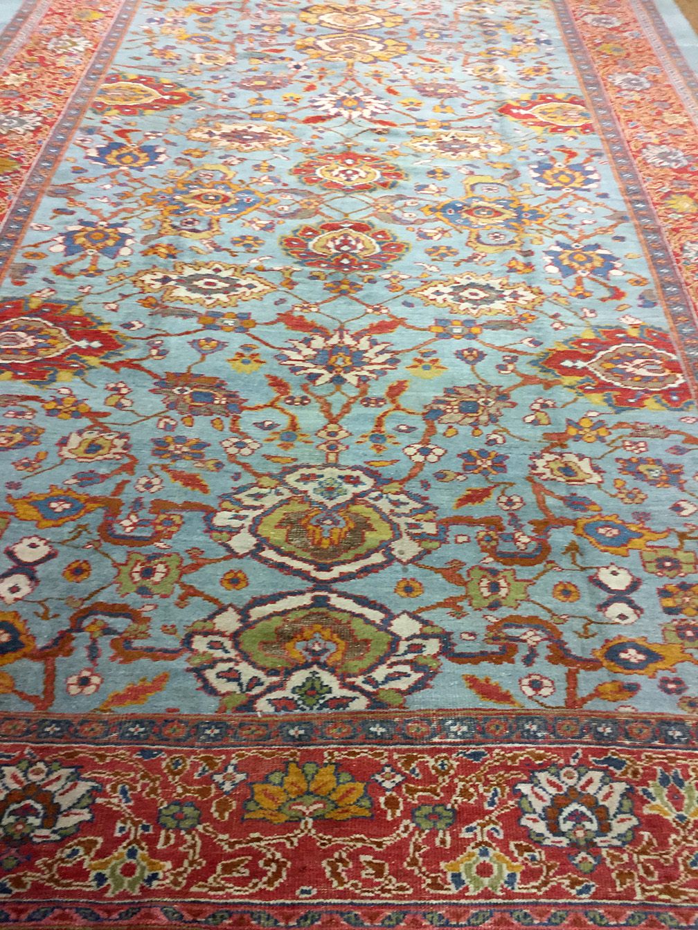 Antique sultan abad Carpet - # 54177