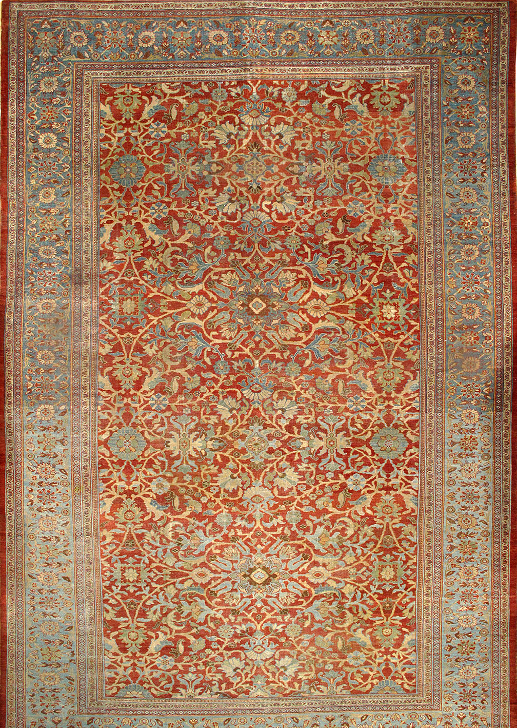 Antique sultan abad Carpet - # 54367