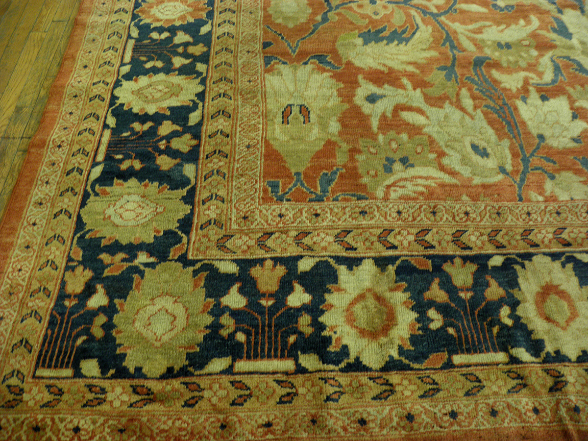 Antique sultan abad Carpet - # 7418