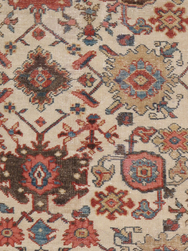 Antique sultan abad Carpet - # 7566