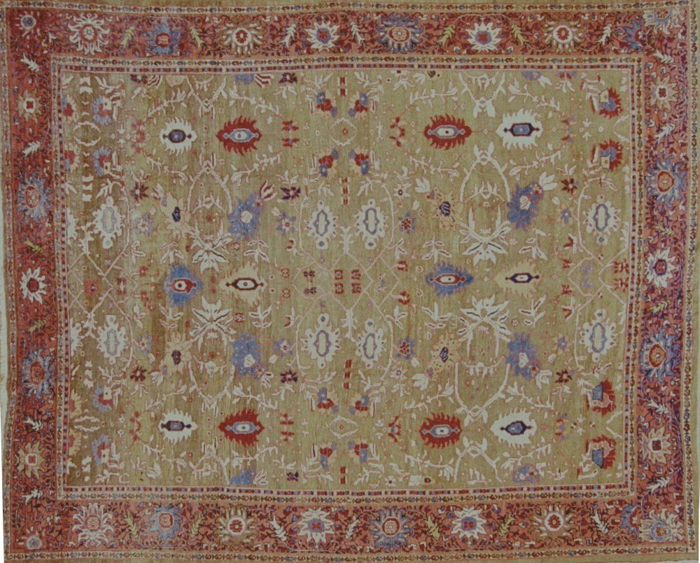 Antique sultan abad Carpet - # 9199