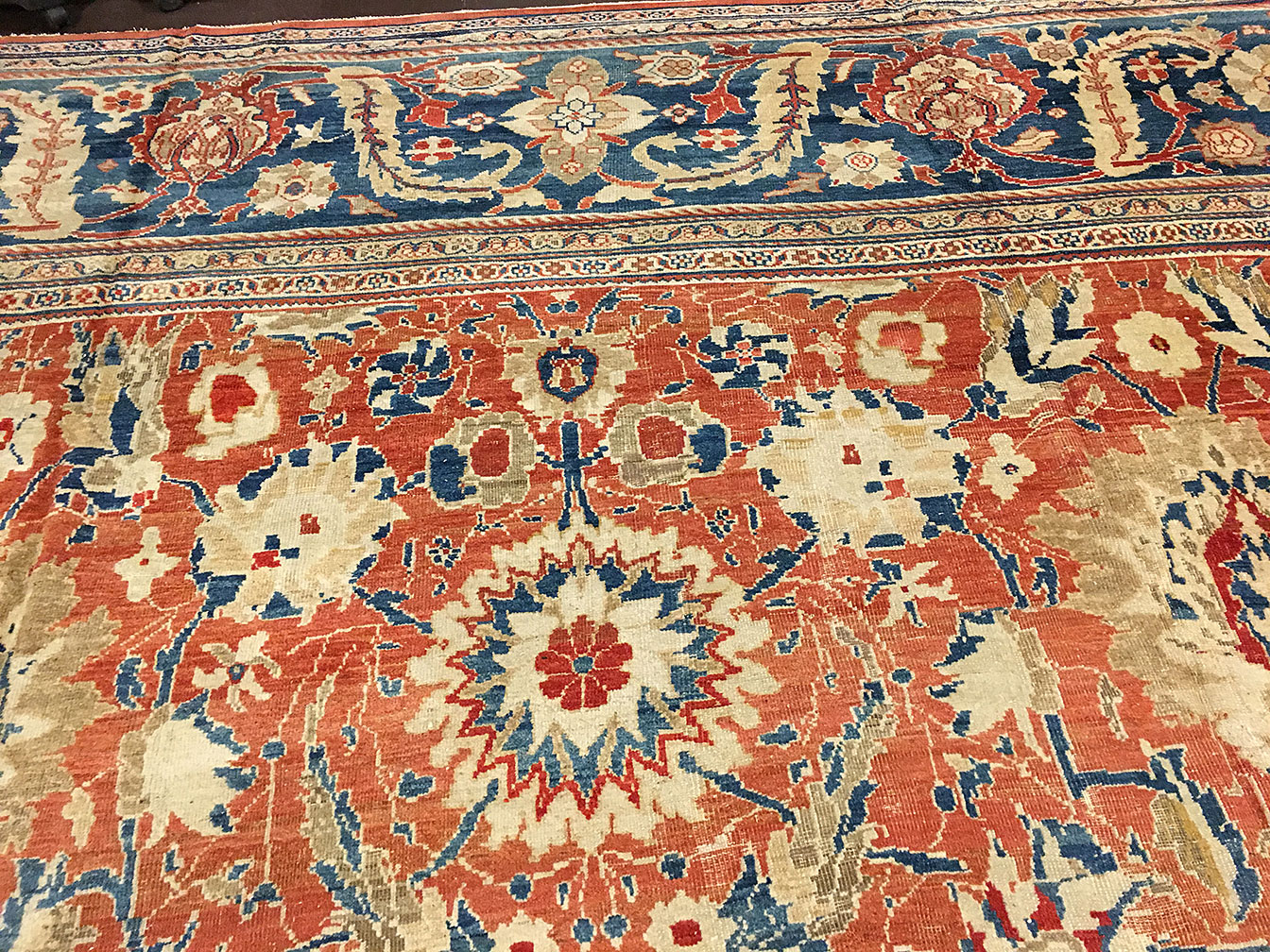 Antique sultan abad Carpet - # 9273