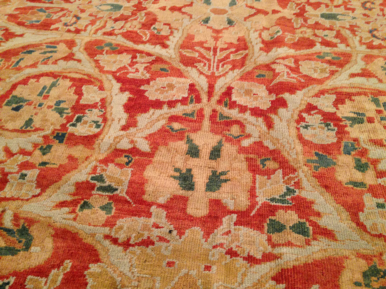 Antique sultan abad Carpet - # 9638