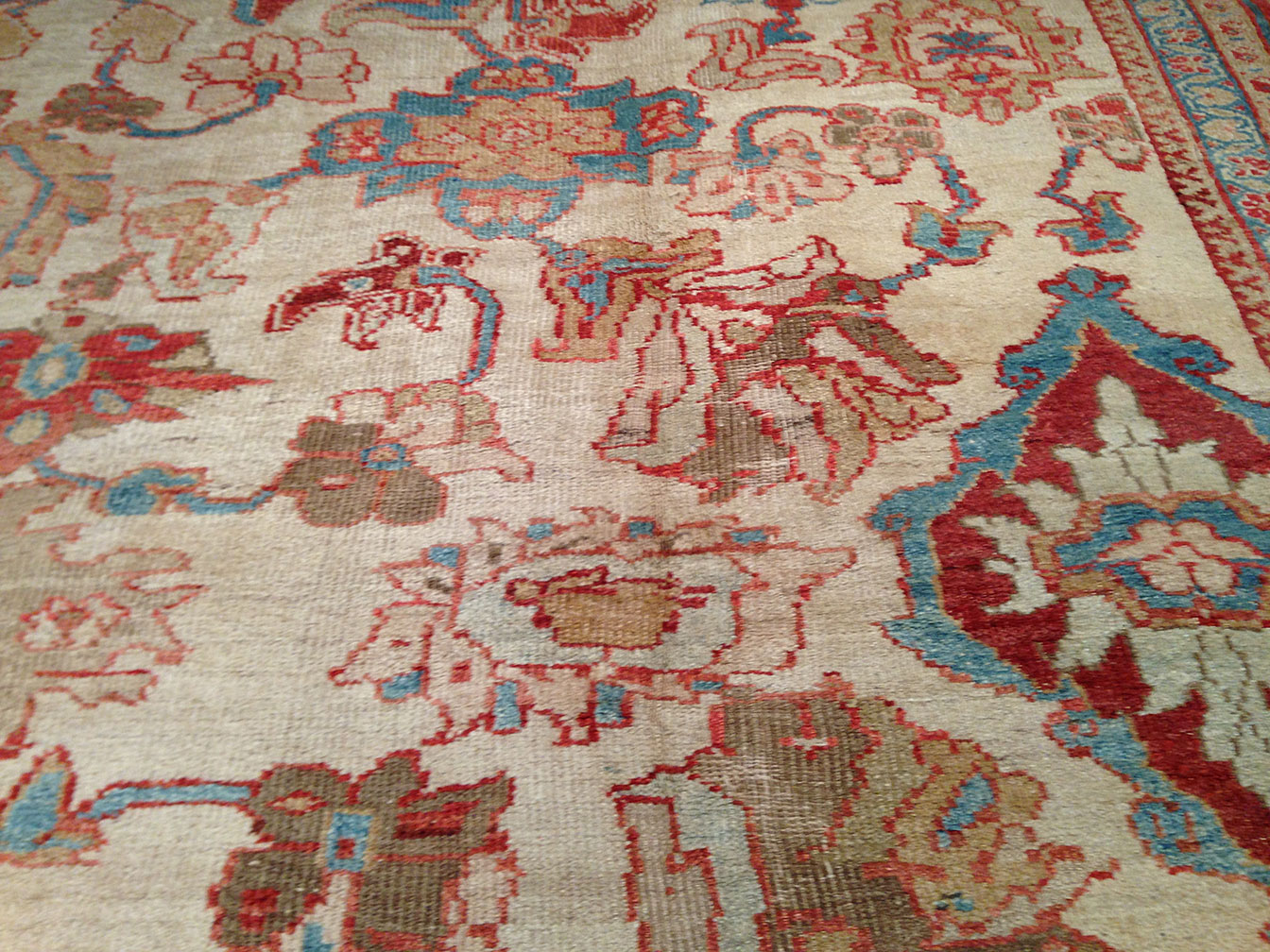 Antique sultan abad Carpet - # 9810
