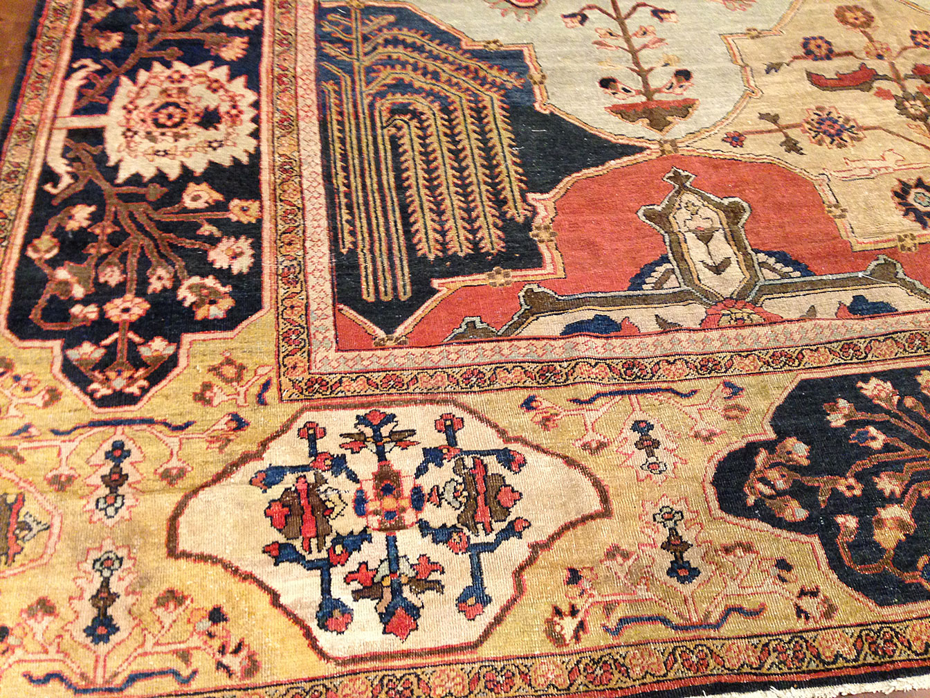 Antique sultan abad Carpet - # 9832