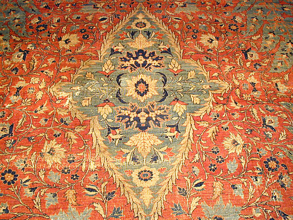 Antique tabriz Carpet - # 3391