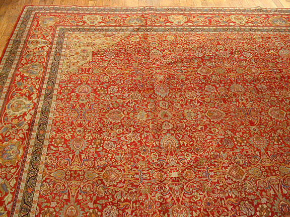 Antique tabriz Carpet - # 3875