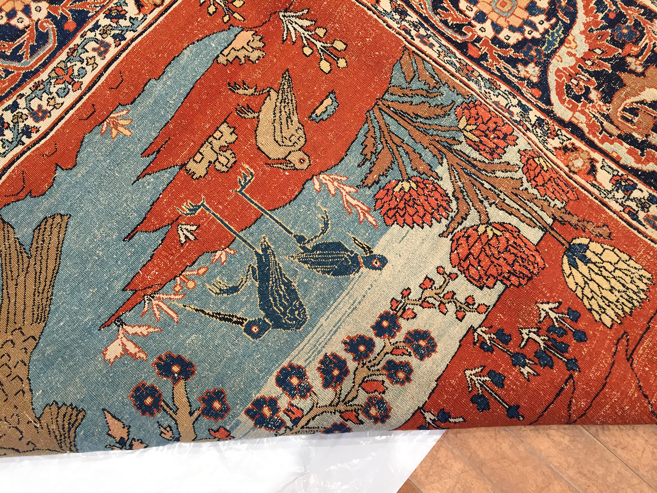 Antique tabriz Carpet - # 54178