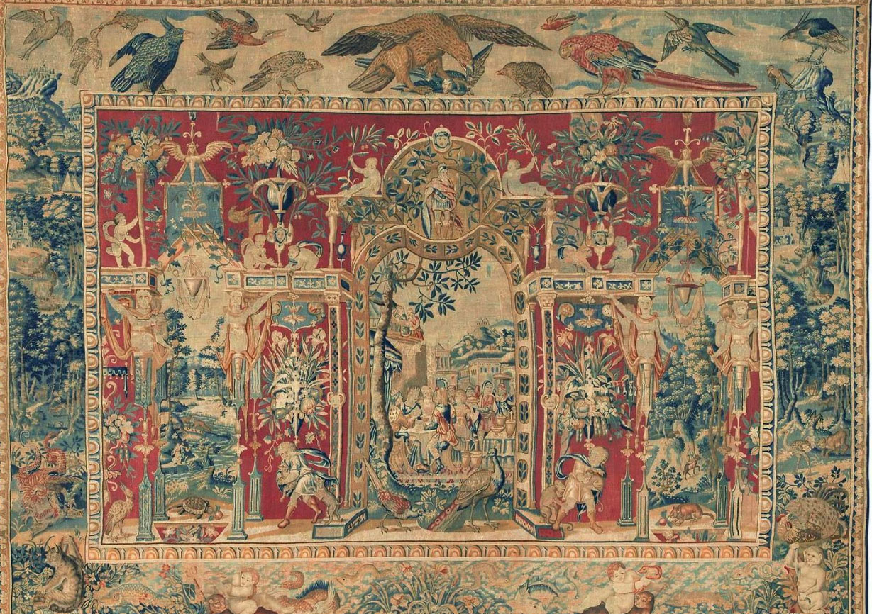 Antique tapestry Carpet - # 53174