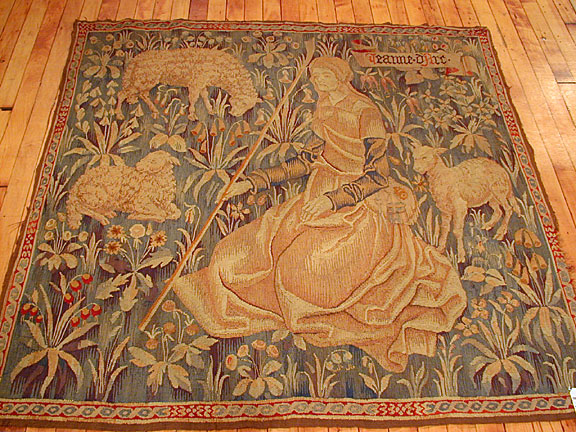 Antique tapestry Rug - # 665