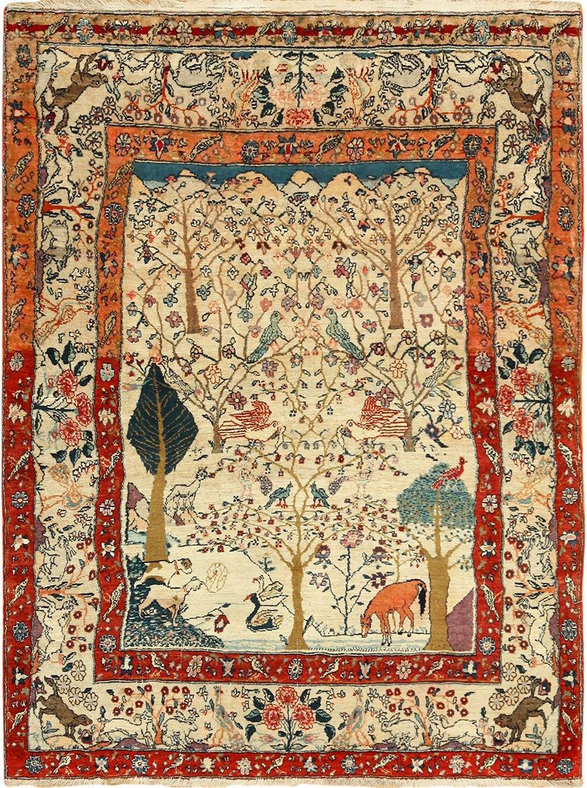 Antique teheran Rug - # 53676