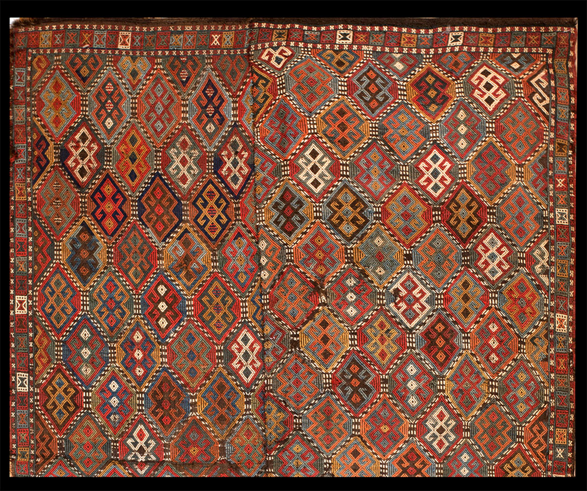 Antique verneh Rug - # 52827